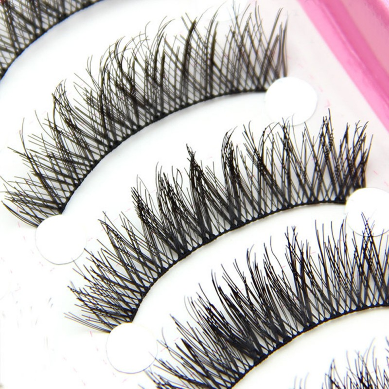 Hot Sale 10 Eye False Thick Beauty Eyelashes Extension Pairs Makeup Long Useful Lashes Cross