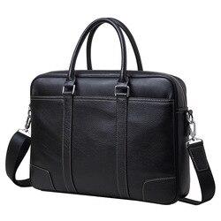 сумочка мужская натуральная кожа мужской портфель 14 дюймов Ноутбук Сумка Коровьей Бизнес мужские сумки через плечо