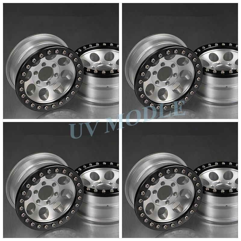 4Pcs/lot RC Crawler 1.9 Alloy  Beadlock Wheels/Rims For 1/10 RC SCX10 RC4WD Free Shipping