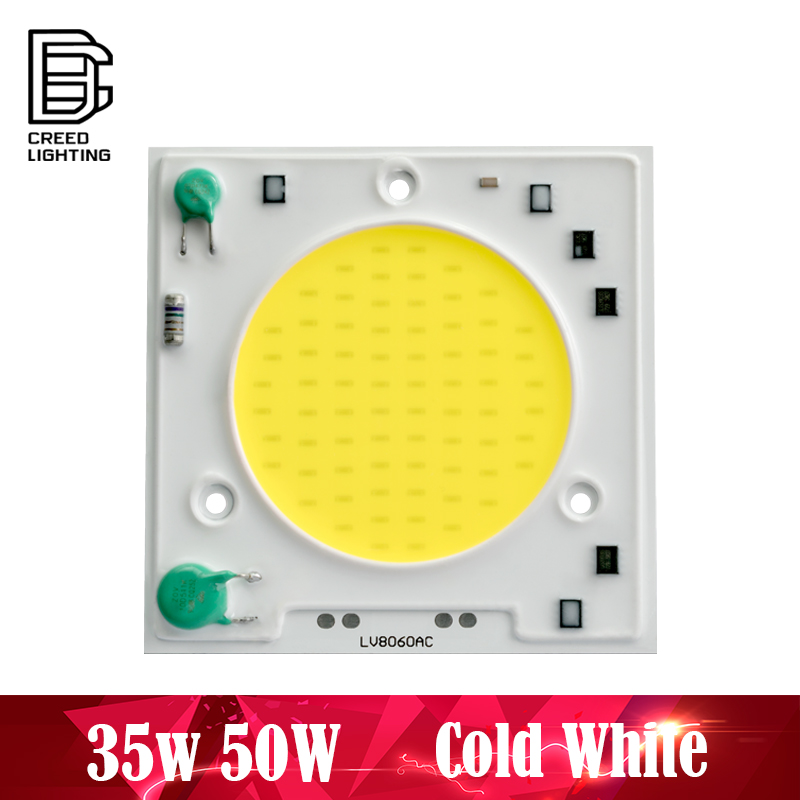 COB LED Lamp Chip 35W 50W AC 220V Cold White No Need Driver LED Flood Light Bulb Chip DIY Spotlight Floodlight Chip