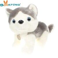 Bookfong 35 cm simulación huskie perro husky muñeco de peluche suave muñeca de los niños juguetes de regalo de cumpleaños la decoración del hogar