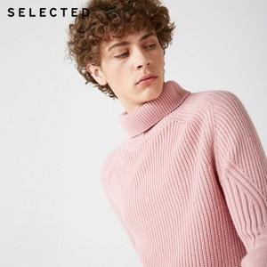 Image 2 - Мужской вязаный пуловер с высоким воротом, несколько цветов, свитер из смешанной шерсти, модель 418425533, 2019
