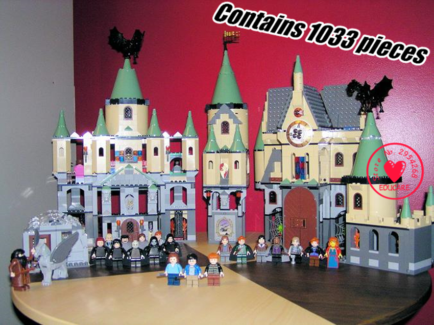 The magic hogwort castle set Educational diy model Building Blocks Bricks Toys Model compatiable with lego kid gift 10551 elves ragana s magic shadow castle building blocks bricks toys for children toys compatible with lego gift kid set girls