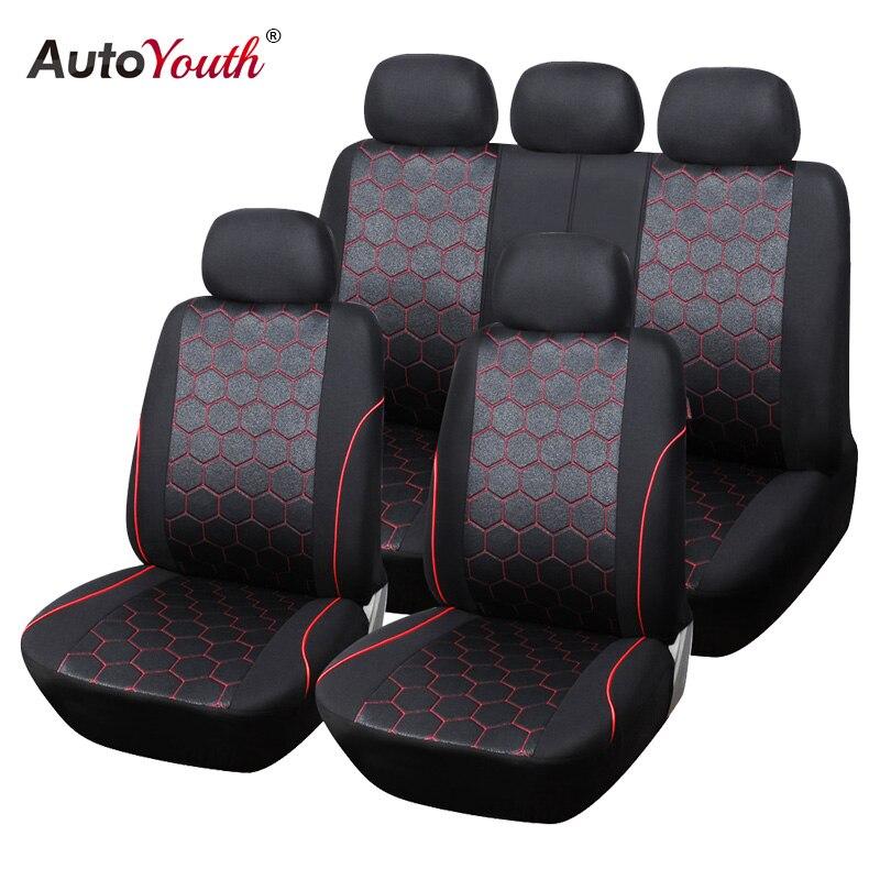 AUTOYOUTH Fußball Ball Stil Auto Sitzbezüge Jacquard Stoff Universal-Fit Die Meisten Marke Fahrzeug Innen Zubehör Sitzbezüge