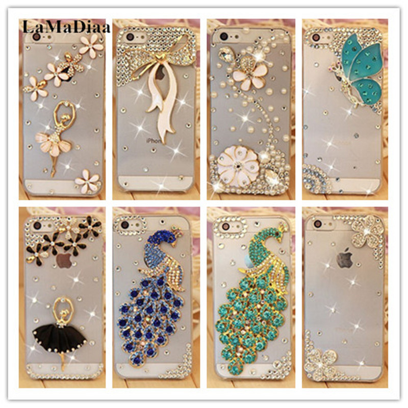 LaMaDiaa Bling Rhinestone Crystal Hard Back Case For Xiaomi Redmi 5A 5 6A Note 3 5A MIX2 2S MAX 2 5S 5C 5X Note 3 8 Phone Case