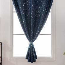 Curtain Multicolor or living room Stars Free Double Face Blackout Curtains Curtains With Holes Incredible City Designs@16(China)