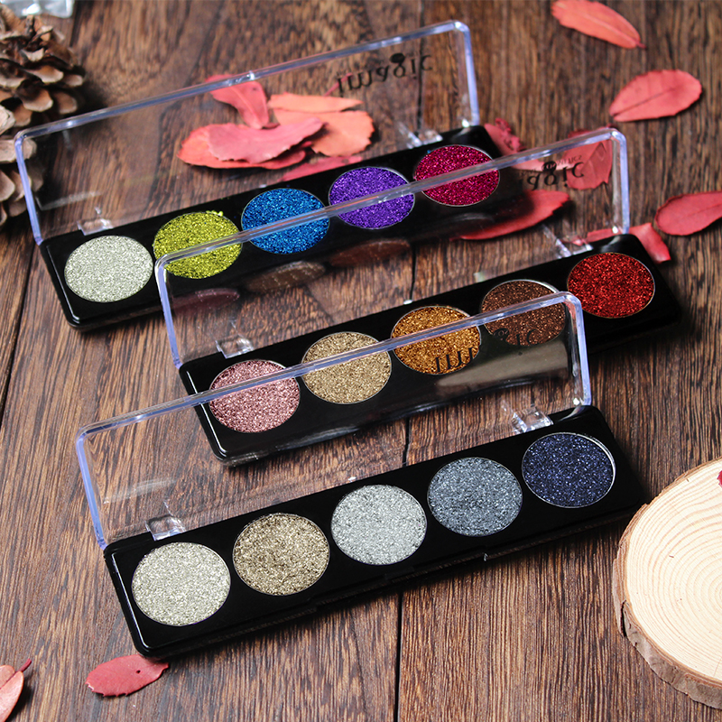 IMAGIC Glitter Eye Shadow Bright EyeShadows Machiaj Cosmetic Presat Glitters Diamond Rainbow Eyeshadow 5 Culori