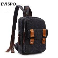 2016 EVISPO Высококачественный холст рюкзак плечи людей, сплошной цвет большой емкости отдыха, многоцелевой дорожная сумка