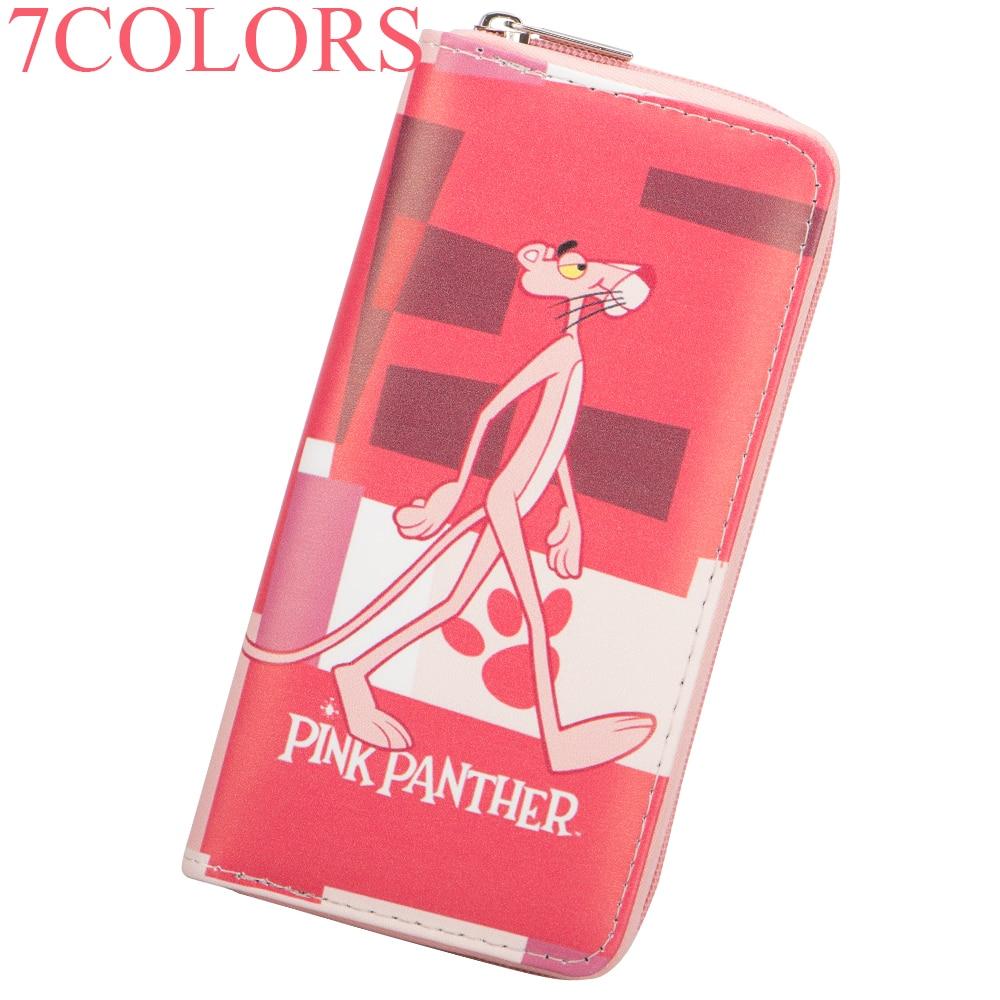 Sansarya 7 Colors 2018 Cartoon Cute Pink Panther Print Girls PU Women Wallet Female Purse Teenage Girls Money Bag Ladies Purse все цены
