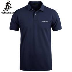 Пионерский лагерь брендовая одежда Для мужчин рубашки поло Для мужчин Бизнес Повседневное одноцветное мужской рубашки поло короткий