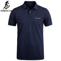 Pioneer camp новые брендовые одежды для мужчин мужские поло футболки бизнес и повседневное одноцветное поло мужское короткий рукав дышащие мужс...