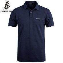 Pionero Campamento Marca ropa Nueva Camisa de Polo de Los Hombres de Negocios y sólido ocasional masculina camisa polo de Manga Corta polo transpirable camisa
