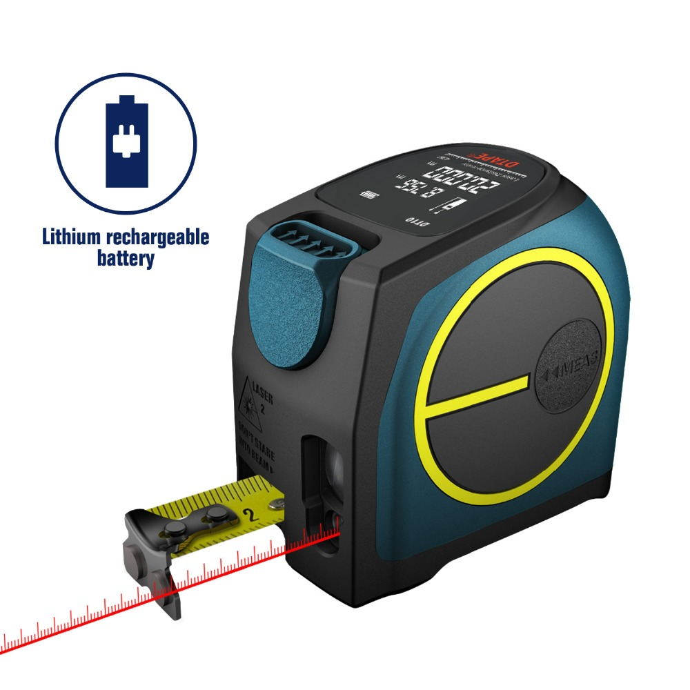 DTAPE DT10 laser distance meter range finder 40M laser tape measure digital retractable 5m laser rangefinder