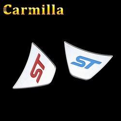 Carmilla St Logo volant paillettes autocollant ABS Chrome couverture autocollants pour Ford Fiesta Ecosport 2009-2016 accessoires Auto