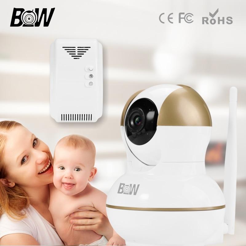 ФОТО Wireless Camera Security System Monitor Surveillance Camera IP + Gas Detector Alarm System Wifi Camera HD 720P Camera BW12G