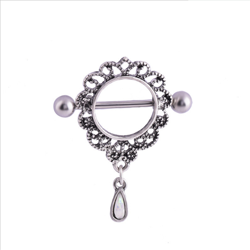 2PCS New Fashion Dangle Nipple Rings Stainless Steel Women Water Drop Bar Barbell Piercing Nipple Rings Body Jewelry|Body Jewelry| - AliExpress