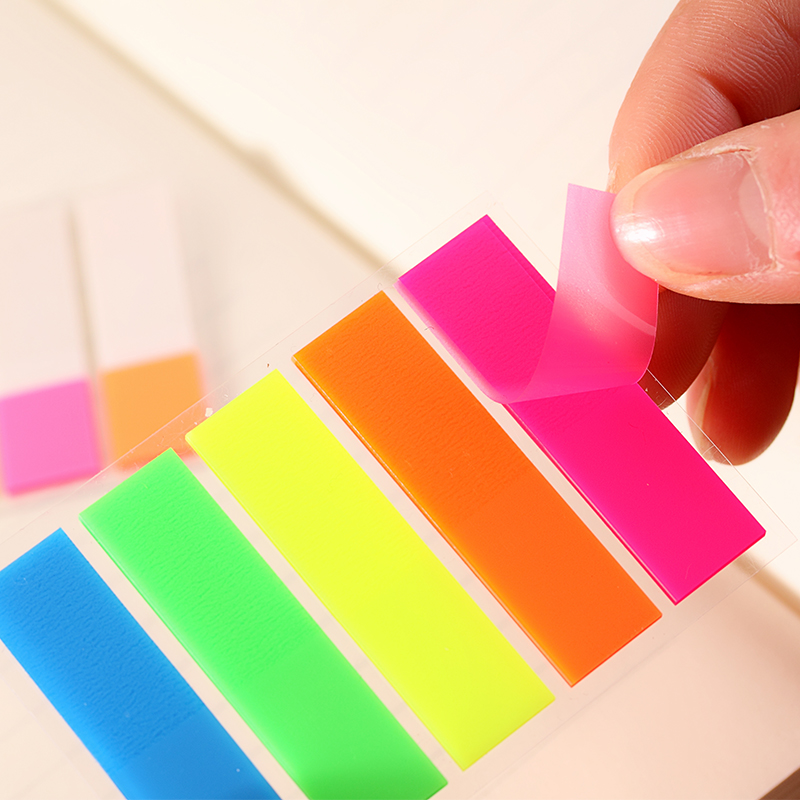 Fluorescent Color Sticky Note Colorful Sheet Labels Classification Index Paste