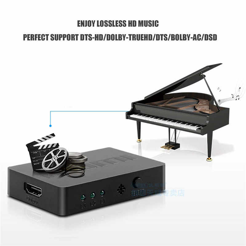 3X1 HDMI Splitter 3 Port Hub Kotak Auto Switch 3 Di 1 Switcher 1080 P HD 1.4 dengan Remote Control untuk XBOX360 PS3 HDTV Proyektor