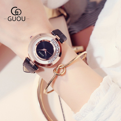 Top Luxury Brand GUOU Women watches Fashion quartz-watch Women's Wristwatch clock relojes mujer dress ladies watch montre femme