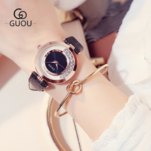 цена на Top Luxury Brand GUOU Women watches Fashion quartz-watch Women's Wristwatch clock relojes mujer dress ladies watch montre femme