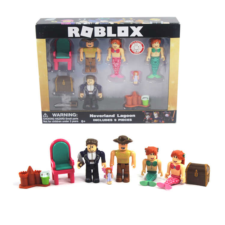 4-9pcs/set Roblox Game Figma Oyuncak Action Figure Toys with Weapons Toys  Kid's Party Gift Children Collection Ornaments Dolls