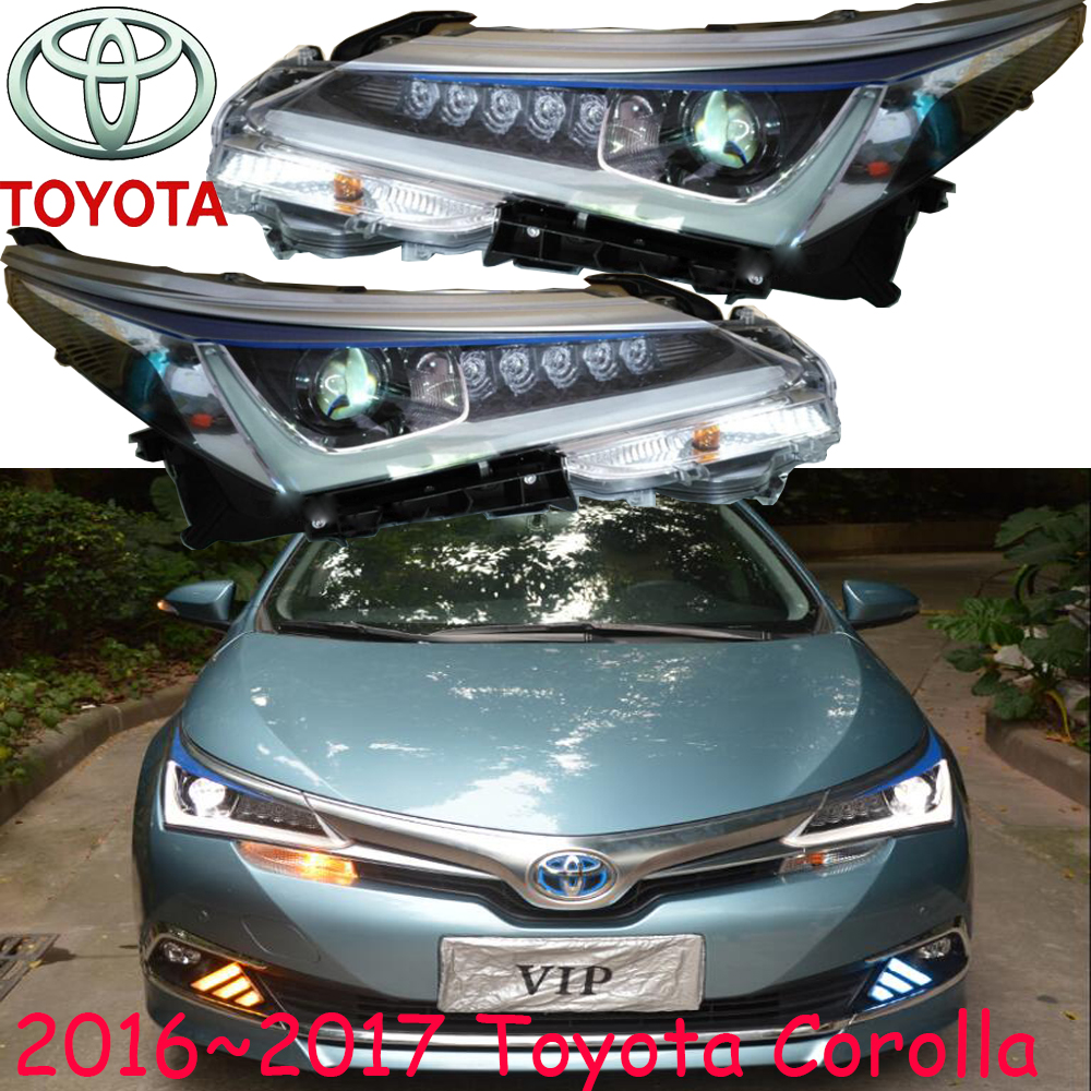 car-styling,Corolla headlight,2016~2017,Free ship!Corolla fog light;car-covers,chrome,prado,camry,altis,Corolla head light rga r 987 digital watch for men blue