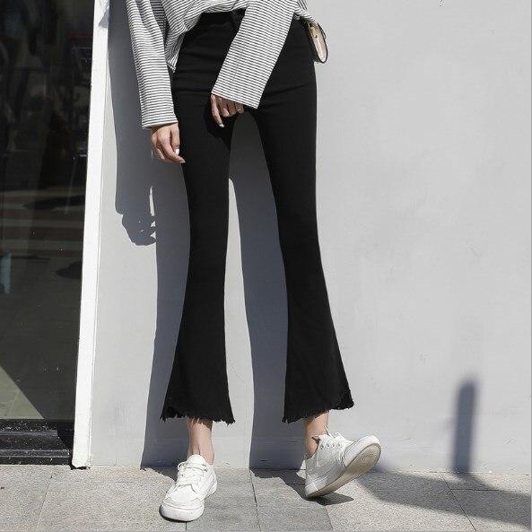 Nouvelle Évasée Femmes Pantalons Maigre Up Push Haute Leggings D'éléphant Tendance Grande Taille 5xl Pattes 4xl Femme 2019 Leggins Noir rq6w1rX