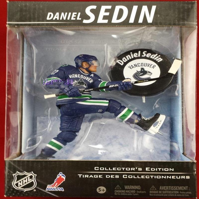 Mcfarlane Toys <font><b>action</b></font> <font><b>Figures</b></font> NHL Daniel Sedin 6'' <font><b>Action</b></font> Gift BOX Pack Ick Hockey <font><b>FIGURE</b></font> Collector's Edition Classic toy Model