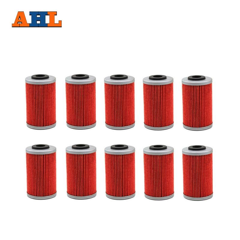 AHL 10pcs Motorcycle Oil Grid Filter for KTM 250 EXC 400 450 520 525 560 SMR