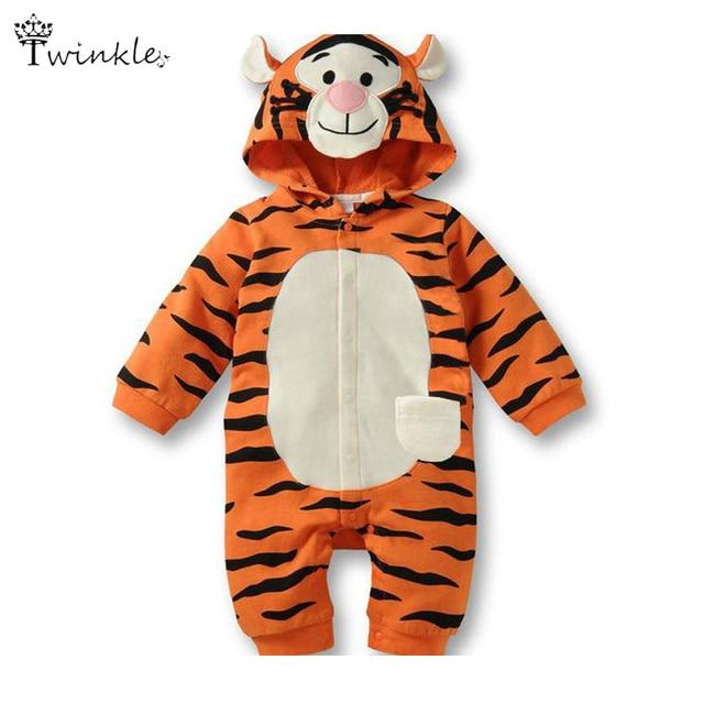 d26e582974b6a Barboteuse de bébé combinaison bébé tigre de bande dessinée costume animal  nouveau - né bébé fille
