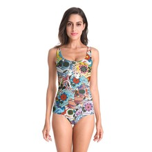 2019 Swimwear Women One Piece 3D Prints Swimsuit Monokini Bodysuit Swimming Bathing Swim Suit Bikini Maillot De Bain Biquini цены