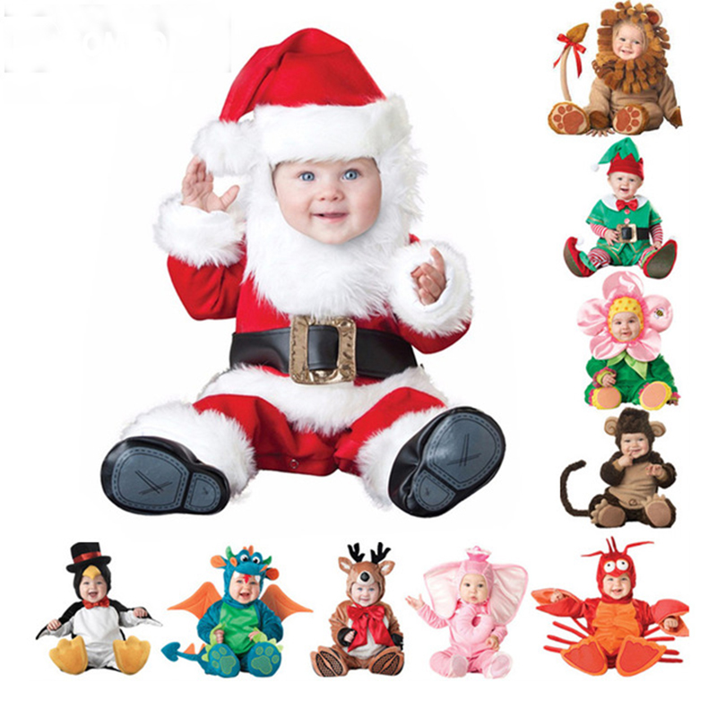 2018 Halloween Costume Baby Rompers Christmas Holiday Infant Baby Girls Lion Rompers Cosplay Newborn Toddlers Clothes 9-24M christmas costumes children animal cosplay rompers inflatable funny chick fancy kids baby 7 24m halloween costume disfraces
