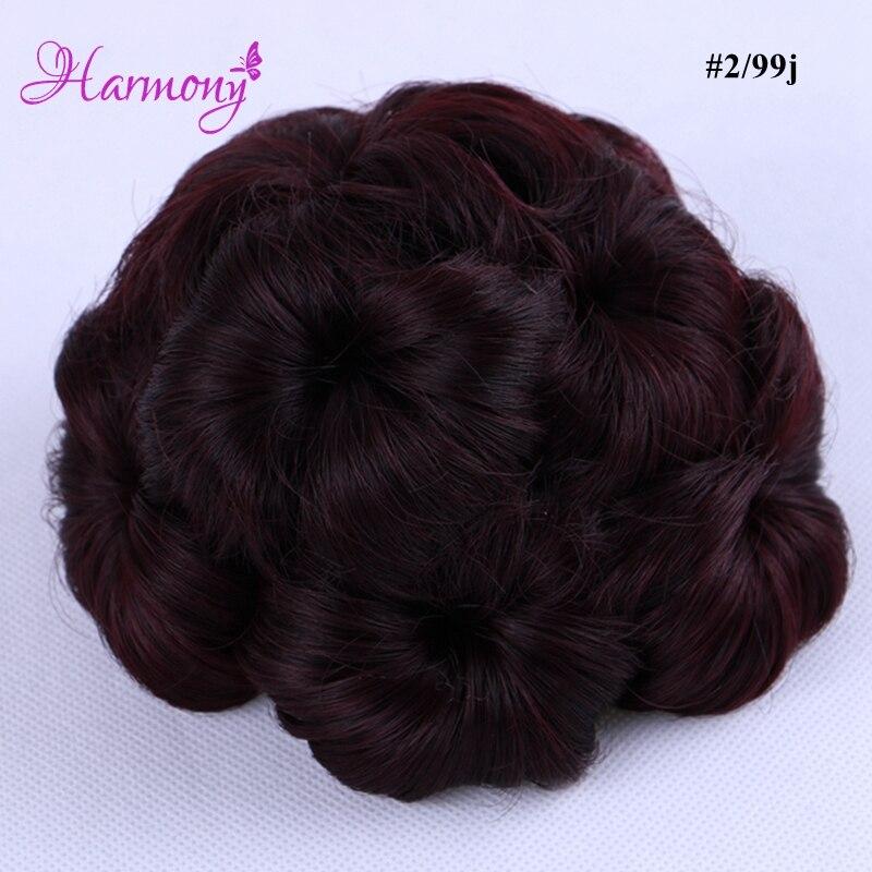 Curly Hair Bride Makeup Bun Blommor Chignon Claw på Ponytail - Hårvård och styling - Foto 4