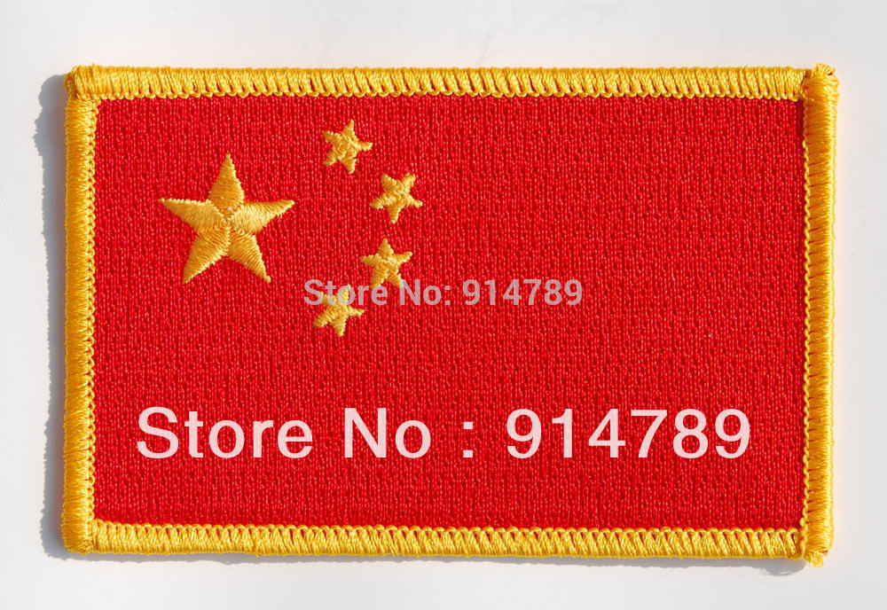 CHINESE CN FLAG ARM BADGE PATCH-32623