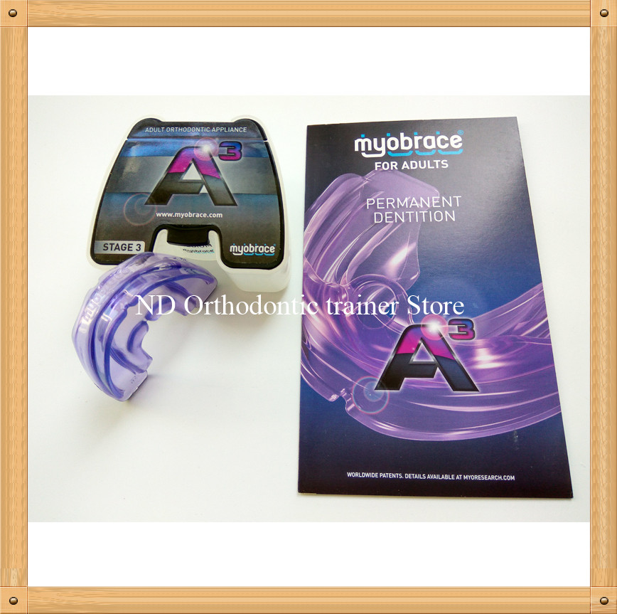 Myobrace orthodontic appliance A3 Dental Orthodontic brace/MRC Dental teeth trainer appliance A3 for Adult dental orthodontic teeth trainer a3 tooth alignment and retention adult mrc orthodontic brace a3 teeth appliance