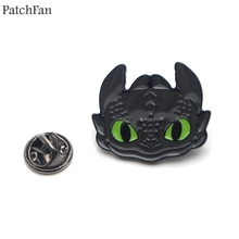 Patchfan How to train your dragon night fury Zinc tie Pins backpack clothes brooches for men women decoration badges medal A1832