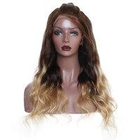 Цвет ful 250% высокой плотности Синтетические волосы на кружеве Искусственные парики с волосами младенца 427 Цвет Средства ухода за кожей волна