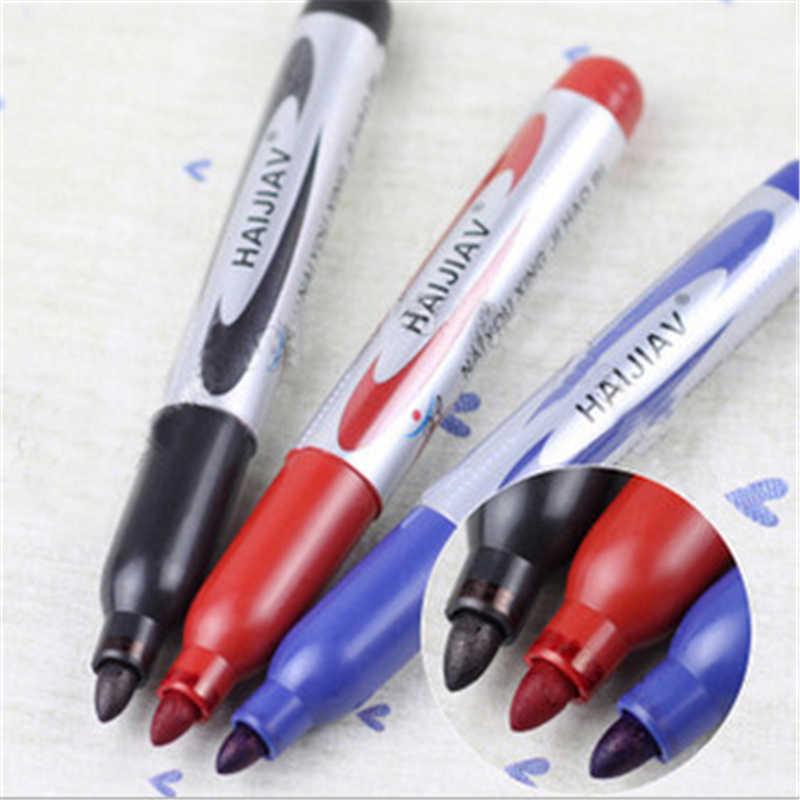 DL KQ15 yağlı silin işaret kalemi siyah işaret kalemi renkli imza kalem büyük yağ işareti öğrenci malzemeleri