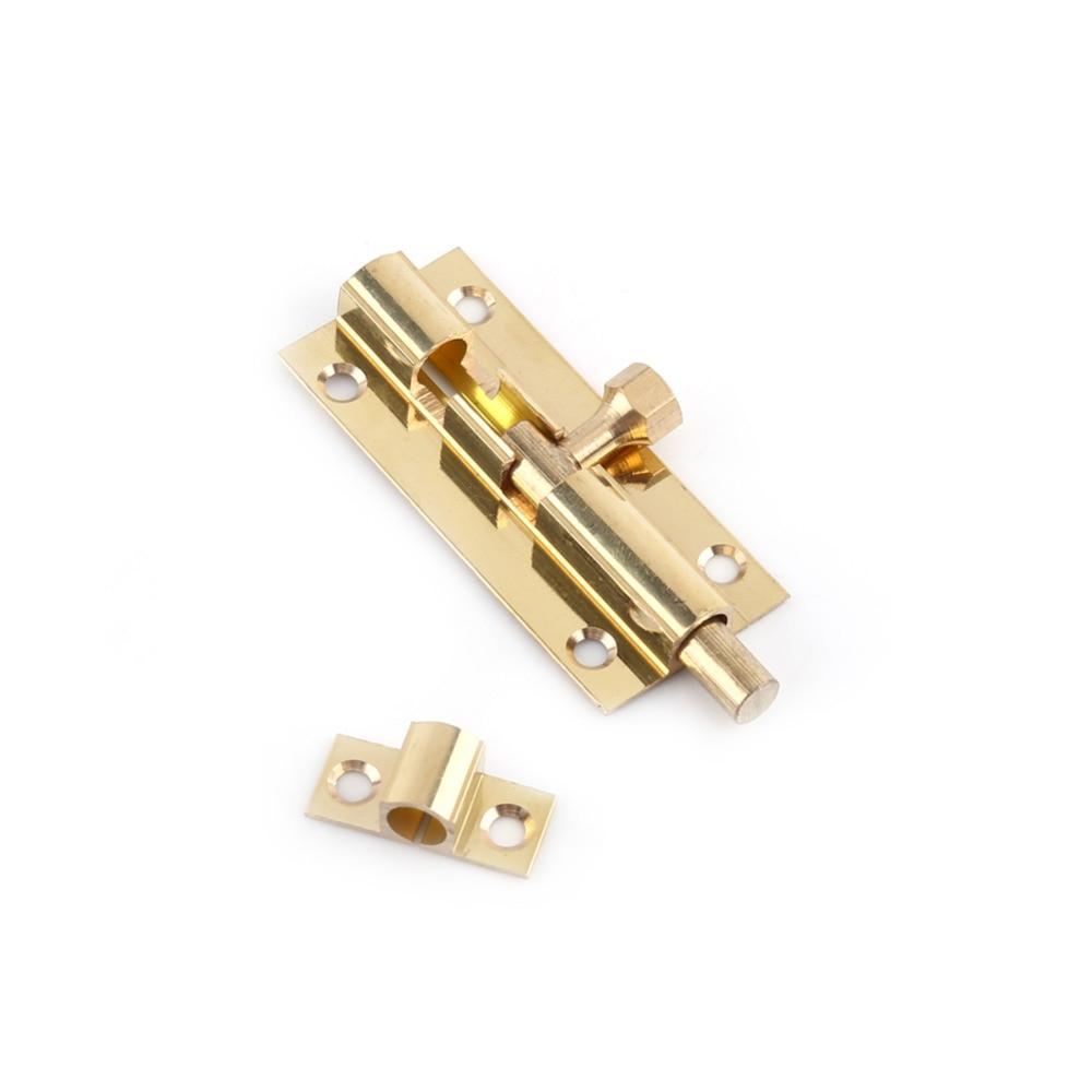 GlobeBest Shopping Store 4 Size Brass Door Slide Catch Lock Bolt Latch Barrel Home Gate Safety Hardware