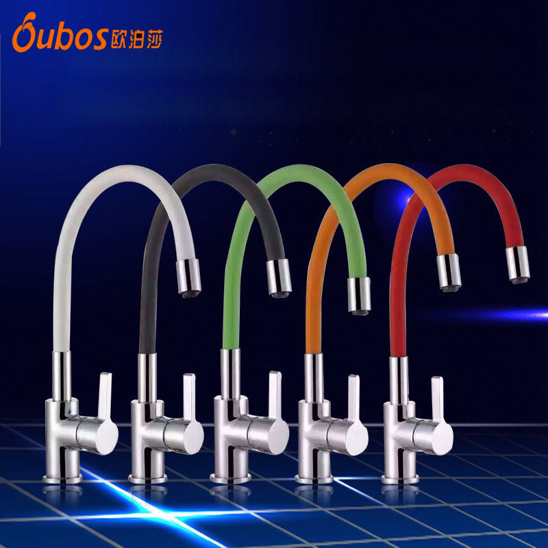 Universal Black Yellow Kitchen Faucet Brass Electroplate Hose Tap Single Handle Hole Basin Faucets 360 Degree Mixer Water Taps