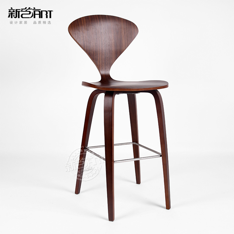 P jaro barra de cola silla de madera curvada silla para for Sillas de madera para bar