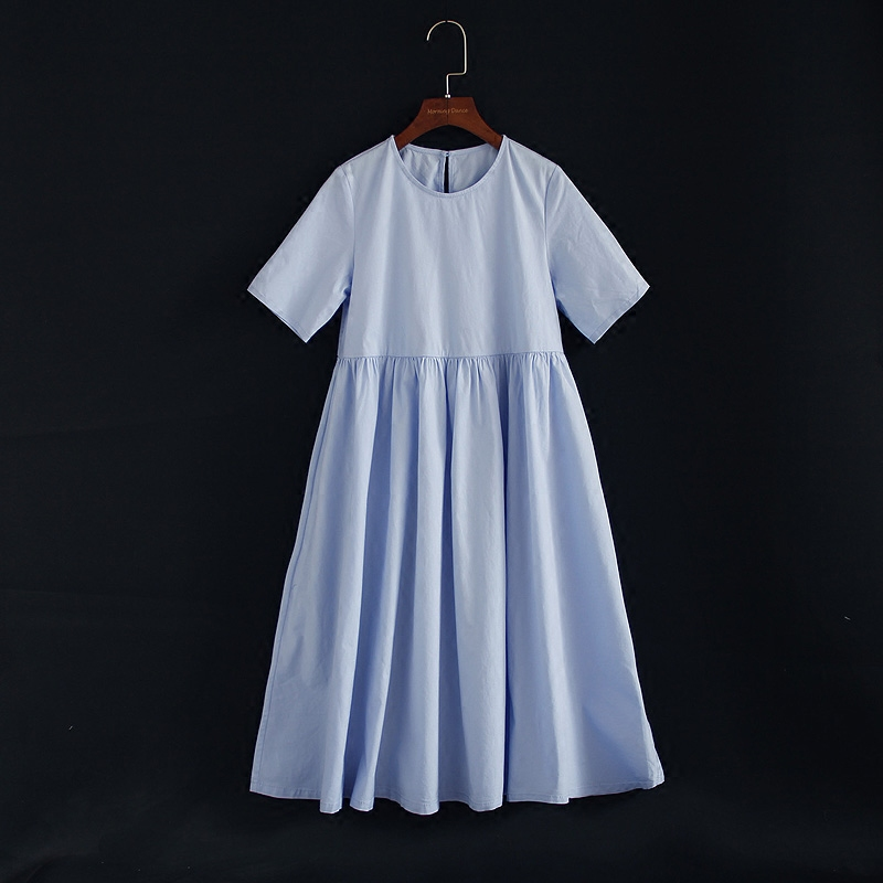 Summer family look clothing children cotton high waist pleated long dress kids infant girl ladies mother daughter matching dress