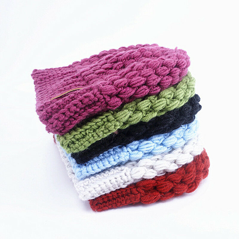 Winter Knitting Hats Winter Women Hat Ladies Girl Stretch Knit Hat With Tag Messy Bun Ponytail Beanie Holey Warm Hats Caps 5