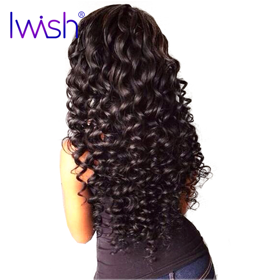1 piece Brazilian Curly Hair Weave Bundles 100% Human Hair Extensions Natural Black Color Non-Remy Hair Free Shipping