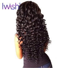 Iwish Brazilian Curly Weave Human Hair Weft 1 Bundle Product Non Remy Hair Can Be Dyed