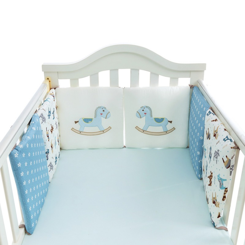 Baby Bed Bumper Protector Infant Bedding Set Newborn Crib Backrest Toddler Cartoon Animal Bedding