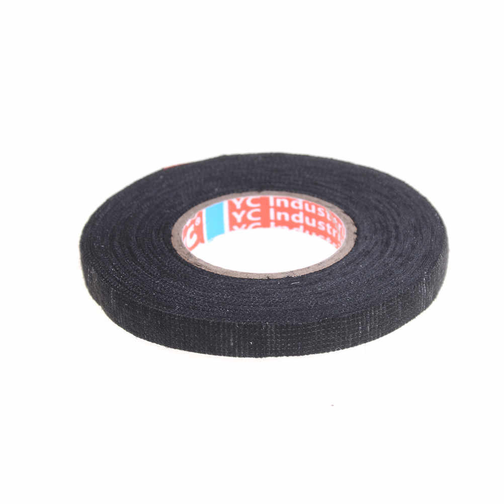 Detail Feedback Questions About 25mx9mm Black Adhesive Cloth Fabric Wiring Tape 9mmx15m Universal Flannel Automotive Harness Car Anti Rattle Self