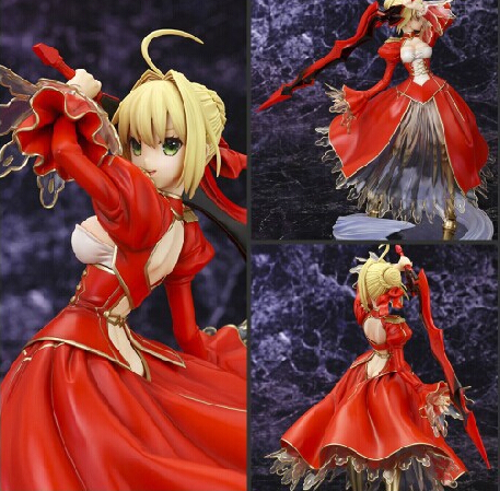 ФОТО 23cm Fate Stay Night Fate/EXTRA Saber Action Figures PVC brinquedos Collection Figures toys for christmas gift