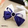 Tiara Bride Hairpins Wedding Hair Accessories for Women Handmade Tiara Blue White Cloth Bow Hair Clip Wedding Tiara Hair Jewelry