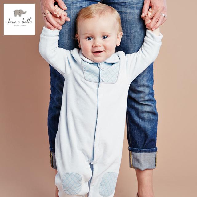 DB2778 dave bella outono bebê roupas roupas de bebê romper infantil romper toddle